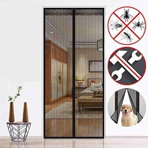 CWWHY Puerta con Pantalla Magnética Mantenga A Los Insectos Afuera Mosquitera para Balcón Corredizo Living Habitación Infantil para Madera, Puertas De Hierro Y Aluminio,100 * 210cm