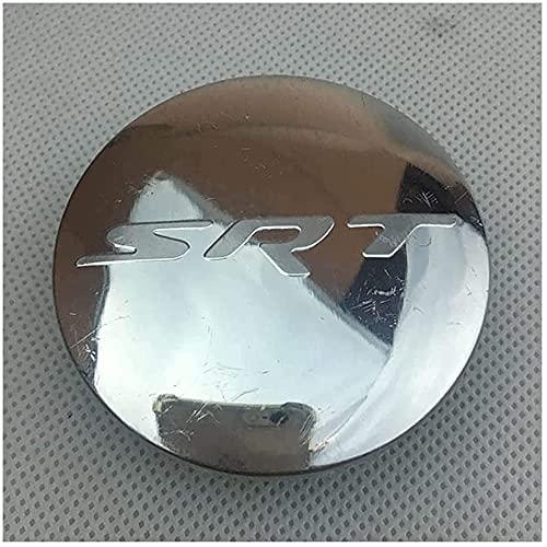 4Pcs Coche Rueda Cubo Centro Tapa para Dodge Hellcat SRT, Car Centrales Cubierta Insignia Impermeable Estilo DecoracióN Modificadas Accesorios