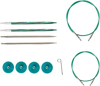 Knit Picks Try IT Interchangeable Knitting Needle Set - Caspian Wood and Nickel Plated Tips (Sizes US 6 and 7)