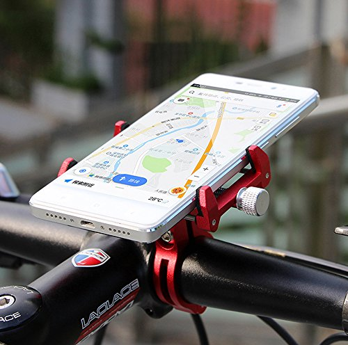 MaxMiles Motorcycle and Bicycle Cell Phone Holder Aluminum Universal Adjustable Phone Mount Smartphone Holder Bike Handlebar Phone Holder