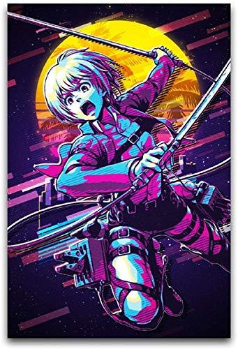 DINGDONG ART Lienzos De Fotos Sin Marco 60 * 90cm Japan Attack on Titan Arlert Armin Before The Moon Poster Decorative Bedroom Corridor Gym Office1