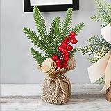 WDFVGEE Mini árbol de Navidad artificial de mesa, árbol de Navidad de 25,4 cm con adornos en miniatura modelo figura decoración de mesa