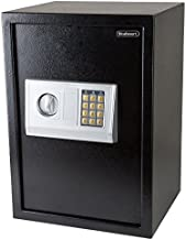 Digital Safe – Electronic, Extra-Large, Steel, Keypad, 2 Manual Override Keys – Protect Money, Jewelry, Passports – for Home or Business by Stalwart