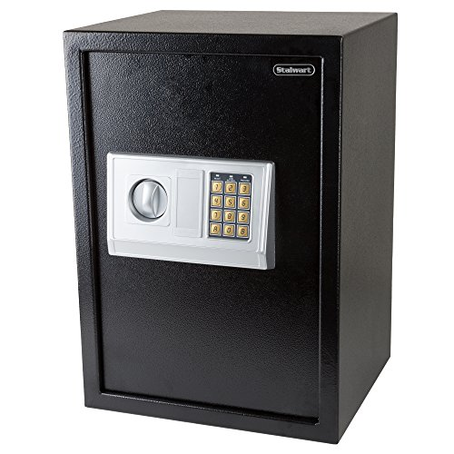 Stalwart Digital Safe-Electronic, Extra-Large, Steel, Keypad, 2 Manual...