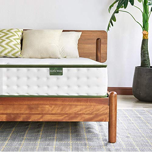 Inofia Sleep 4FT6 Mattress,Hybrid Innerspring Mattress in a Box,9 Zoned Support Mattress Gives Advanced Pressure Point Relief,the HOPE Collection (Double(135x190x22cm))