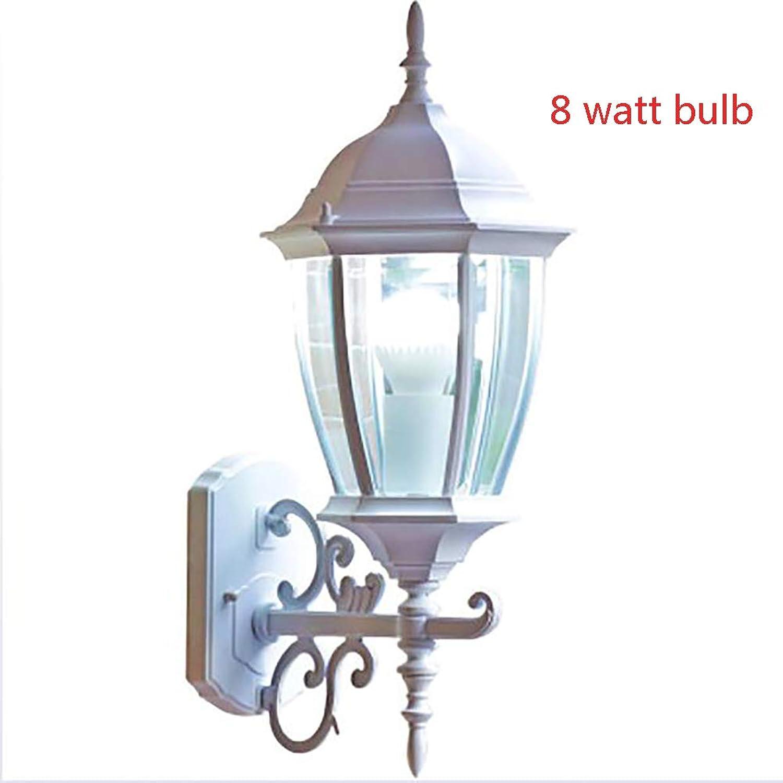 8w Led Outdoor Wandbeleuchtung Garten Spritzwassergeschützt Wandlampe Ip26 Retro Vintage Auenwandleuchten Aus Aluminium 1 Flammig E27 6 Seitige Auenlampe Wei