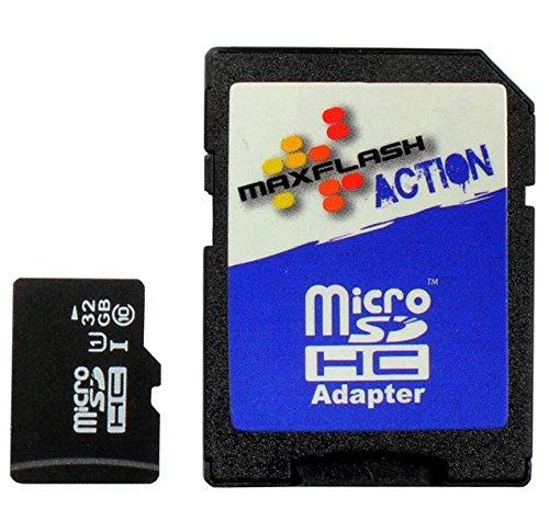 Maxflash 32GB microSD Speicherkarte für ASUS ZenFone 2, Class 10, unterstützt Ultra HD;