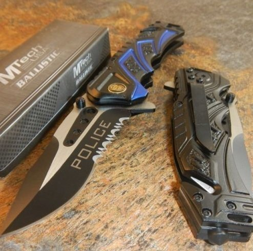 The Best BALLISTIC Assisted Opening Rescue POLICE BLACK Glass Breaker RESCUE Knife