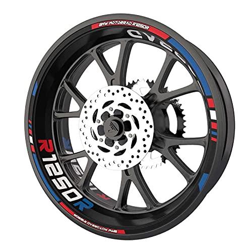 Pack completo de pegatinas para llantas para BMW R1200R de calidad premium (8 pegatinas para 2 ruedas), multicolor