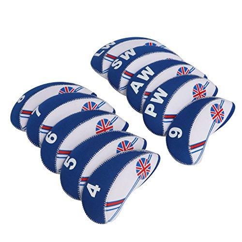 tourbon Golf Club Eisen umfasst die Schlägerhaube für Titleist, Callaway, Ping–Set von 10, blau
