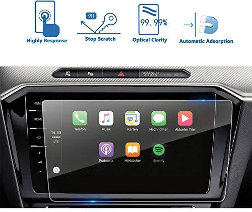 LFOTPP Passat B8 9,2 inch navigatiefolie, 9H krasbestendig GPS Navi pantserglas, HD glas displaybeschermfolie