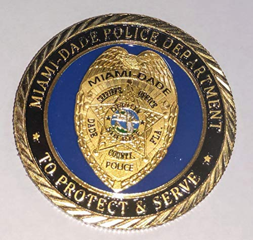 Miami Dade Sheriff Police Law Enforcement Colorized Challenge Art Coin