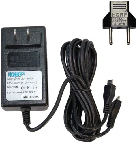 HQRP 3A Battery Charger Dual microUSB store Adapter AC free shipping Toshiba for Exc