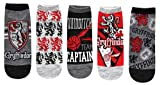 Harry Potter Gryffindor Quidditch Juniors/Womens 5 Pack Ankle Socks Size 4-10