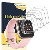 UniqueMe [6Pack] Protector de Pantalla para Fitbit Versa 2, película Transparente de Burbuja de TPU Huella Digital Disponible Compatible con Fitbit Versa 2