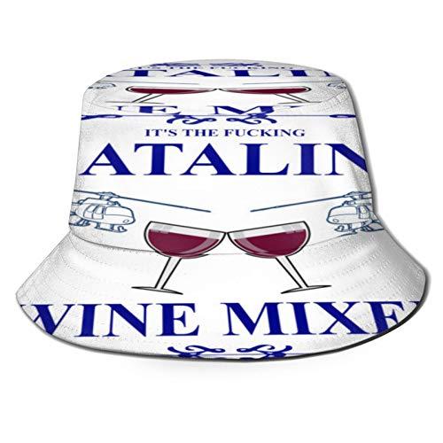 popluck Flat Top Breathable Bucket Hats Unisex It's The F'N Catalina Wine Mixer!! Bucket hat Autumn and Winter Fisherman hat