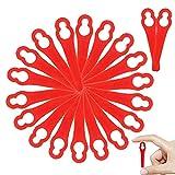 WELLXUNK Cuchillas de Plástico Hierba, 80Pcs Cuchillas de Plástico Cortacésped, Rojo Cuchillas de Repuesto, Cuchillas Cortador de Césped, para FRT18A FRT18A1 Art 46155 FRT20A1C