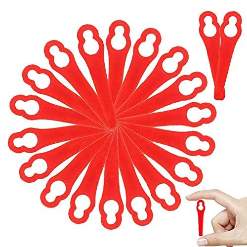 WELLXUNK Kunststoff Ersatzmesser, 80 Stück Messer für Rasentrimmer, Kunststoffmesser für Rasentrimmer, Rasentrimmer-Klingen, Rasenmäherklinge für Frt18A Frt18A1 Kunst 46155 Frt20A1