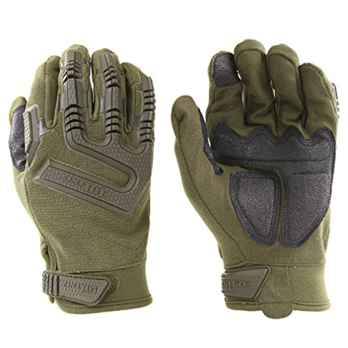 Copytec Tactical Einsatzhandschuhe Kommando Oliv Biker Schutz mit Protektoren #16070, Farbe:Oliv, Größe:Herren M