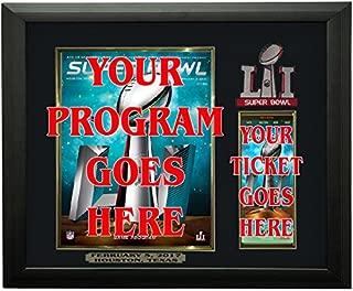 Super Bowl 51 Program & Ticket Holder Frame, Black Frame - Super Bowl LI