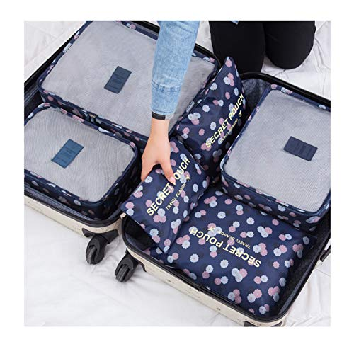 YLDZSUP Travel storage bag set suitcase clothing Clothes Packing Travel Carry On Sorting Packages Travel Storage Compression Pouches Clothing Luggage finishing underwear storage bag six sets