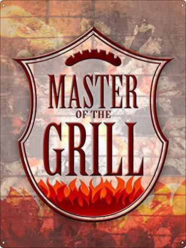 Master Of The Grill tinnen teken Rood 30.5x40.7cm