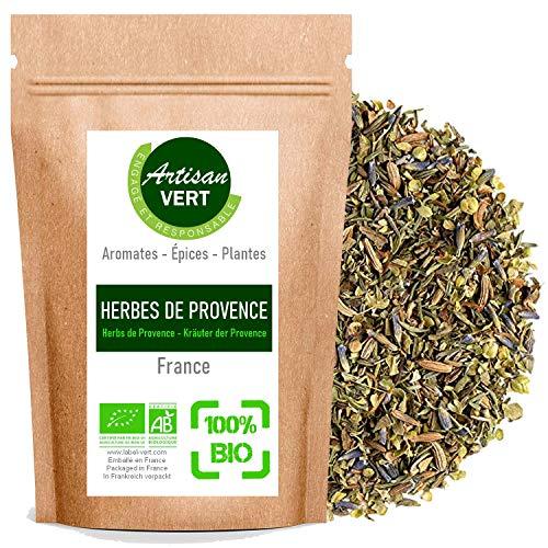 Herbes de provence BIO, aromates, cuisine biologique, Sachet refermable - L'Artisan du Vert (100g)
