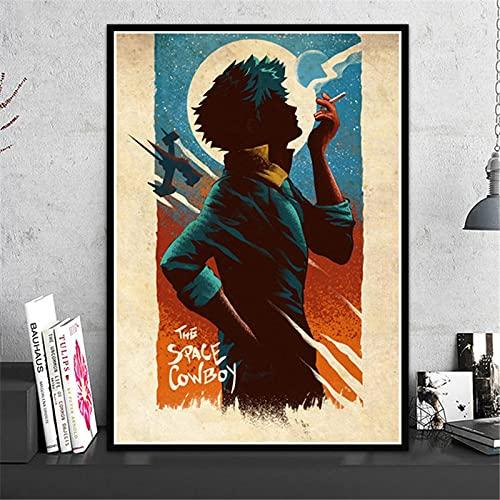 Yiwuyishi Impresión en Lienzo Cowboy Bebop Anime HD Poster Modern Wall Art Decoración para el hogar Pintura Imagen artística para Sala de Estar 50x70cm P-1297