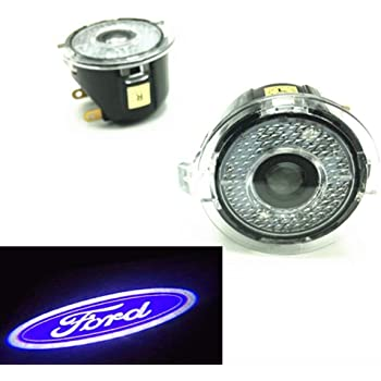 CHAMPLED For FORD Laser Projector Logo Illuminated Emblem Under Door Step courtesy Light Lighting symbol sign badge LED Glow Car Auto Performance Tuning Accessory
