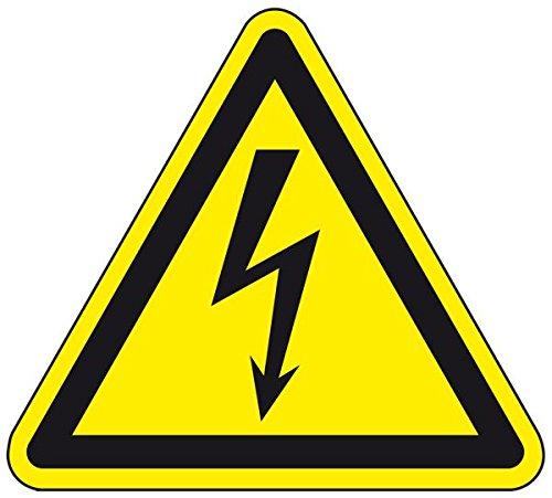 LEMAX® Warnschild Warnung vor elektrischer Spannung, ASR/ISO, Kunststoff, SL 200mm