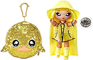 """MGA Entertainment Na Na Na Surprise 2-in-1 Fashion Doll and Sparkly Sequined Purse Sparkle Series – Daria Duckie, 7.5""""..."""