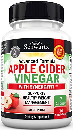 Organic Apple Cider Vinegar Capsules- Natural Weight Loss Management & Appetite Suppressant with SynergyFit Spice Blend - Digestion Support & Bloating Relief