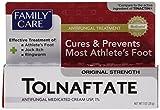 [3 PACK] Family Care Tolnaftate Antifungal Cream 1% Compare to Tinactin- 1 fl.oz