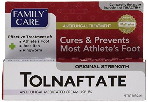 Family Care Tolnaftate Antifungal Cream 1% Compare to Tinactin