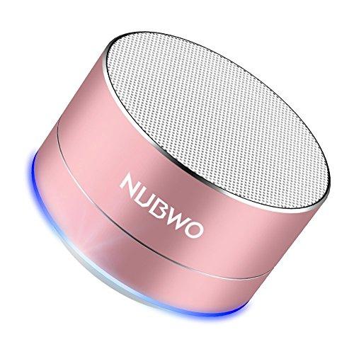 Altavoz Bluetooth, NUBWO A2 Mini Altavoz Portátil de Viaje Bluetooth al Aire Libre, Altavoz Inalámbrico con Bass Grave y Llamadas Manos Libres - Oro Rosa