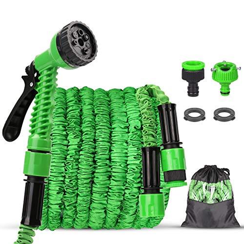 Tubo da Giardino, Flessibile Tubo da Giardino 100 FT 30m,Tubo Estensibile Irrigazione con 8 Funzioni di Spruzzo per Giardinaggio Lavaggio Auto o Casa