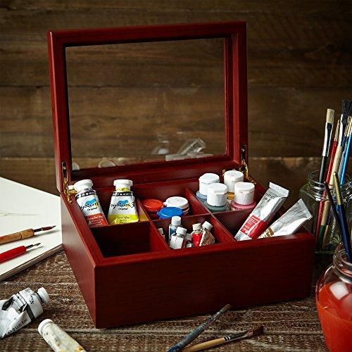 Tee Box von Apace Living - Luxeriöse Tee Aufbewahrung Box Holz – 6 Fächer für die Aufbewahrung...