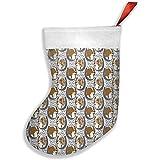 Wheatleya Retratos de herradura bicolor de pastor australiano Medias navideñas, calcetines para decoraciones navideñas navideñas