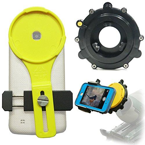 "Phone Skope Lollipop Universal Digiscoping kit for Spotting Scope, Binocular, Microscope, Zoom Camera, Hunting, Biology, Birdwatching, Birding and Phone Scope Lenses (U1 (1.2"" - 1.8""))"