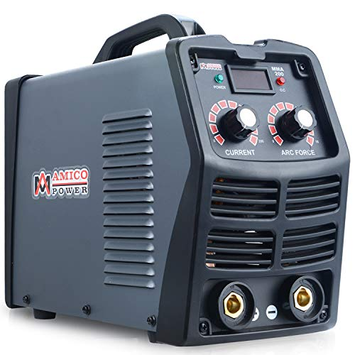 Amico MMA-200, 200 Amp Stick Arc IGBT Digital Inverter DC Welder, 110V/230V Welding, Weld All Types Electrodes