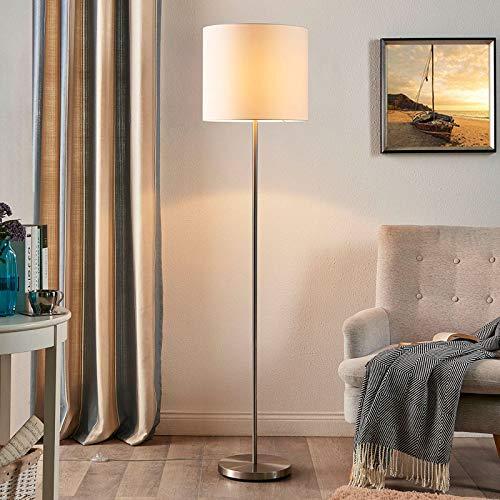 Lindby Stehlampe \'Parsa\' (Für Kinder, Junges Wohnen) in Weiß aus Textil u.a. für Schlafzimmer (1 flammig, E27, A++) - Stehleuchte, Floor Lamp, Standleuchte, Wohnzimmerlampe, Schlafzimmerleuchte
