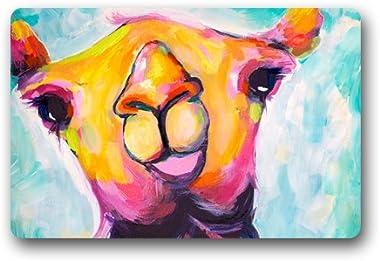 Camel Art Paintings Customized Doormat Entrance Mat Floor Mat Rug Indoor/Front Door/Bathroom/Kitchen and Living Room/Bedroom