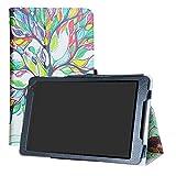 LFDZ Alcatel A3 (10) 4G Funda, Soporte Cuero con Slim PU Funda Caso Case para 10.0' Alcatel A3 (10) 4G Tablet(Not FIT Alcatel A3 WiFi Version),Love Tree