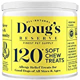 DOUG'S RESERVE Dog Allergy Chews for Itch Relief, Dog Seasonal Allergies, Remedy & Immunity Boost Supplement. All Natural Ingredients, Made in USA, for Small, Medium and Large Breeds - 120 Count