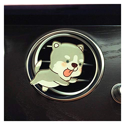 ooege OOE Adorno de Coches Lindo Cachorro Aire Acondicionado Outlet Decoración Perfume Clip Air Ambiental Automóvil Tuyere Fragancia (Color Name : 002)
