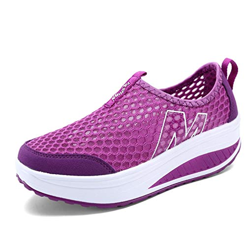experiment Women's Shoes Casual Sport Shoes Walking Flats Height Increasing Women Loafers Air Mesh Swing Wedges Shoe