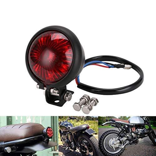 YIBO オートバイ赤12V LED調整可能なカフェレーサースタイルストップテールライトバイクブレーキリアランプテールライト用チョッパー(赤)