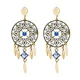 Bohemian Style Resin Alloy Dangle Earrings For Women Fashion Jewelry Hot Sale Girl Trendy Collection Earrings Accessories
