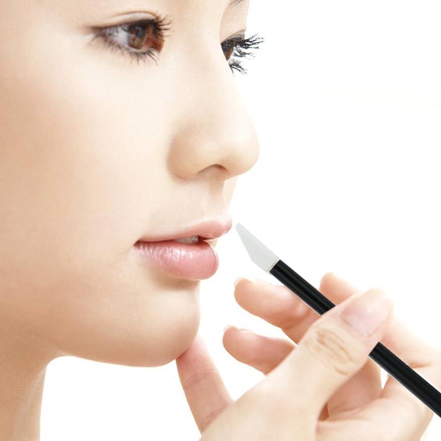 ガラガラ実施するガムZafina リップブラシ 使い捨て 便利 化粧用品 メイクアップ  化粧ブラシ50本セット  (ブラック)