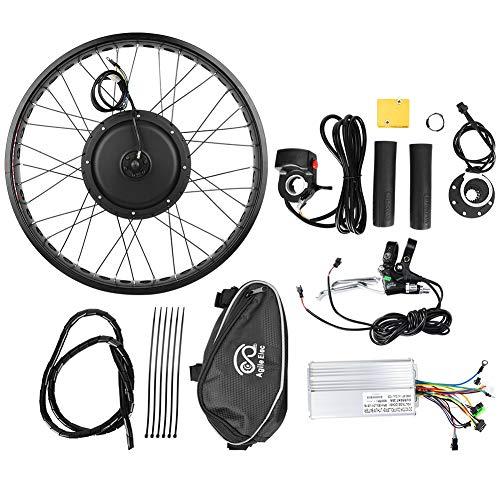 Jacksking Ebike Motor Kit, E-Bike 48V 1000W Nabenmotor Umbausatz Rad 26x4 Zoll, Motor Umbausatz(#2)